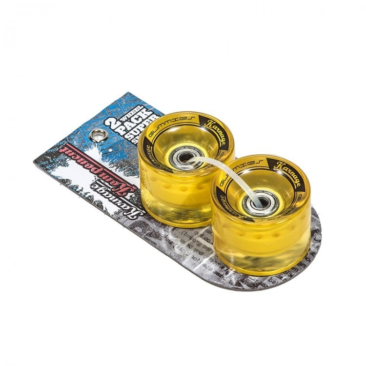 Karnage Super Smooth 59mm Skateboard Wheels - Yellow - 2 Pack