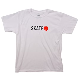 SkateHut Skate Logo Kids T shirt - White/Red