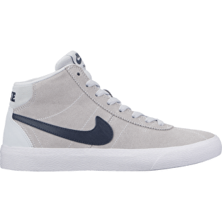 Nike SB Bruin Hi Womens Skate Shoes - Pure Platinum/Obsidian