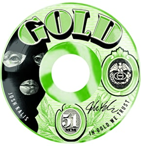 Gold Skateboard Wheels - Currency Kalis 51mm