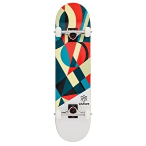 Rocket Eclipse Series Complete Skateboard - Red/Green 7.75