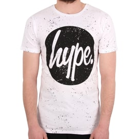 Hype Speckle Circle T shirt - White/Black