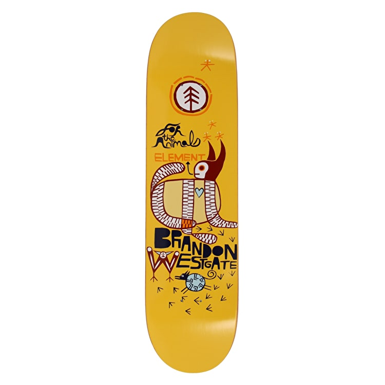 Element For The Animals Westgate Featherlight Skateboard Deck - 8""