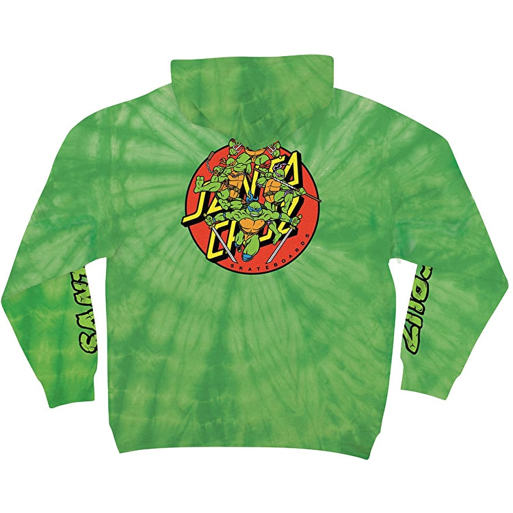 Santa Cruz x TMNT Turtle Power Hoodie - Spider Lime