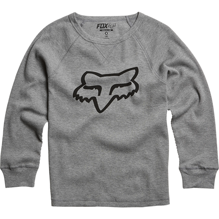 Fox Kanopolis Thermal Kids Sweatshirt - Heather Grey