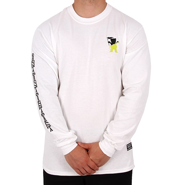Grizzly Tubular Long Sleeve T Shirt - White