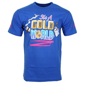 Gold World T-Shirt - Royal