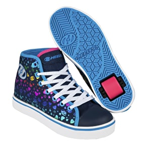 B-Stock Heelys Veloz - Denim/Multi Hearts UK 2 (Cosmetic Damage)
