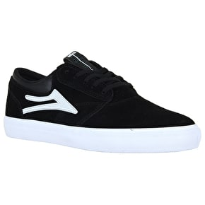 Lakai Griffin Skate Shoes - Black/White Suede
