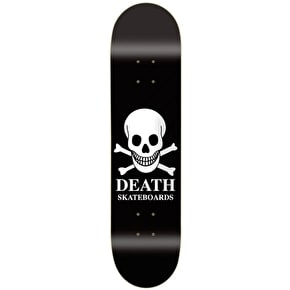 Death OG Black Skull Skateboard Deck - 8.25