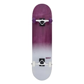 Rocket Fade Series Complete Skateboard - Purple/White 7.75
