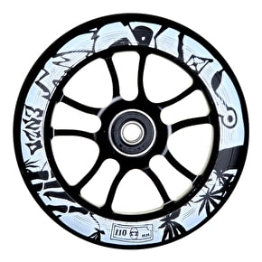 AO Enzo 110mm Wheel Incl Bearings- Black