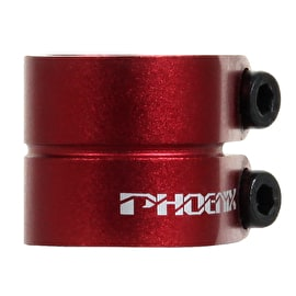 Phoenix Smooth Double Clamp - Anodized Red