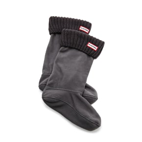 Hunter Kids Half Cardigan Stitch Boot Sock - Slate - small (B-Stock)