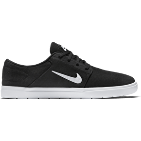Nike SB Portmore Ultralight Skate Shoes - Black/White