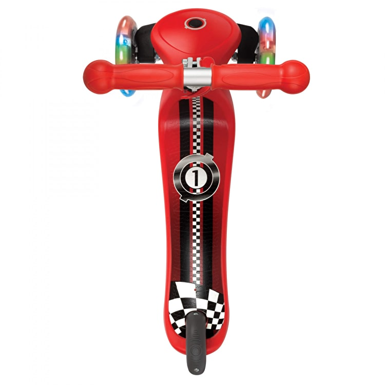 Globber Primo Fantasy Lights Complete Scooter - Racing New Red