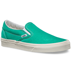 Vans Classic Slip-On Shoes - (Washed) Pool Green