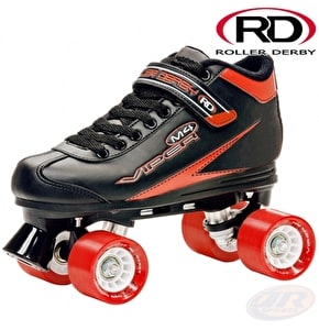 Roller Derby Mens Viper M4 Quad Skates - Black / Red
