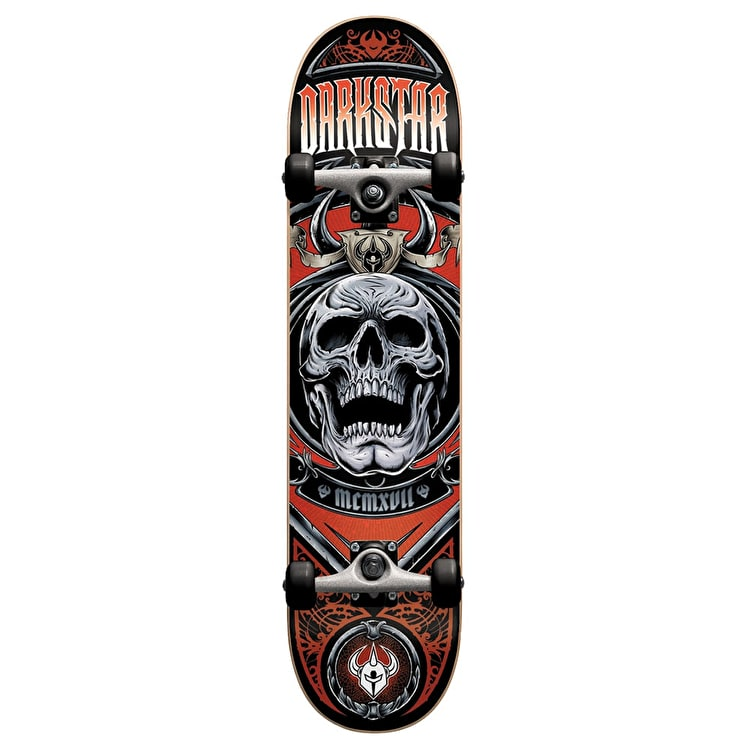 Darkstar Complete Skateboard - Crest Red 7.5""