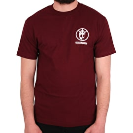Rebel8 Offender T Shirt - Burgundy