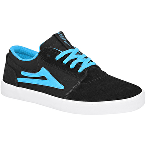 Lakai Griffin Kids Skate Shoes - Black/Blue Suede