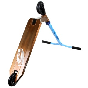 District x UrbanArtt Custom Scooter - Mirror Gold/Sea Blue