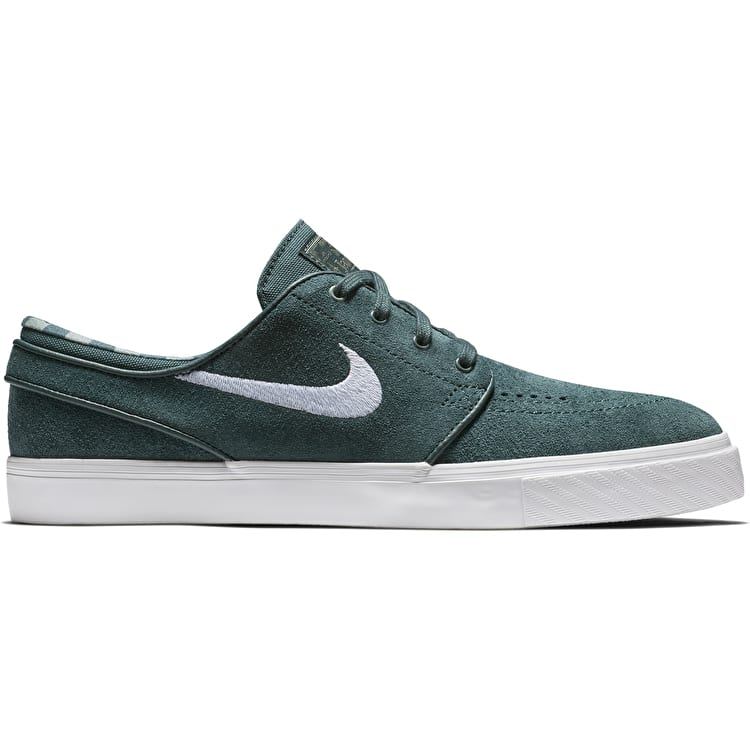 Nike SB Zoom Stefan Janoski Skate Shoes - Deep Jungle/White Clay/Green White