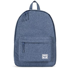 Herschel Classic Backpack - Dark Chambray Crosshatch Blue