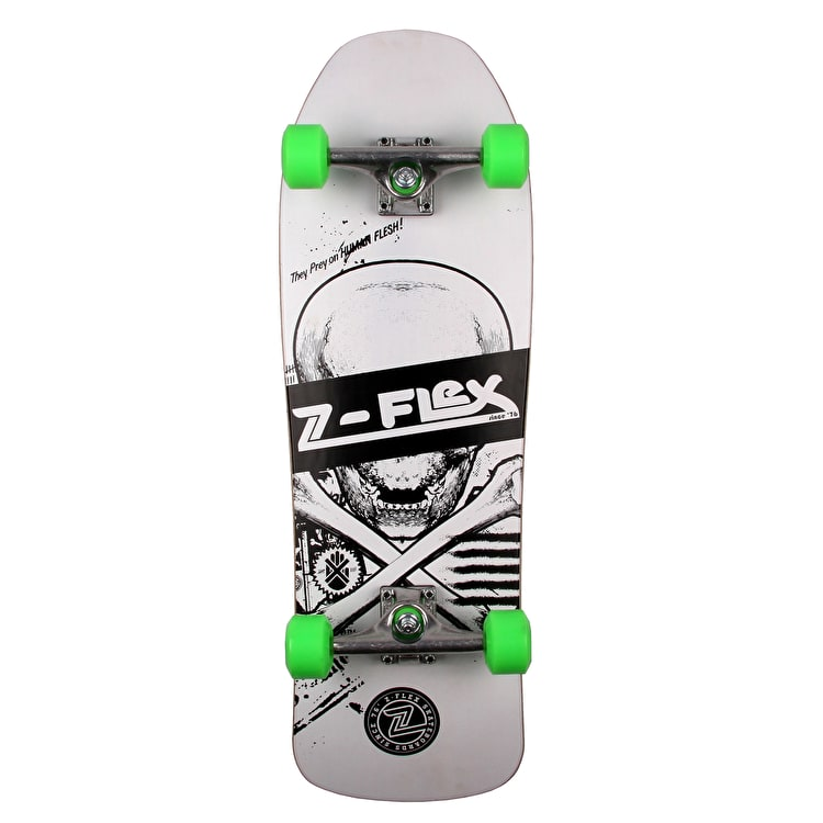 Z-Flex Z-Bone Series Complete Cruiser Skateboard - White - 31""