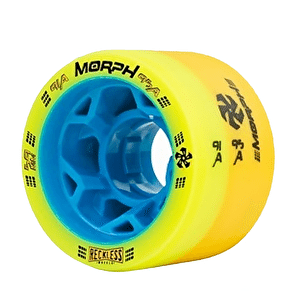 Reckless Morph Dual Durometer Derby Wheels-91A/95A Yellow​