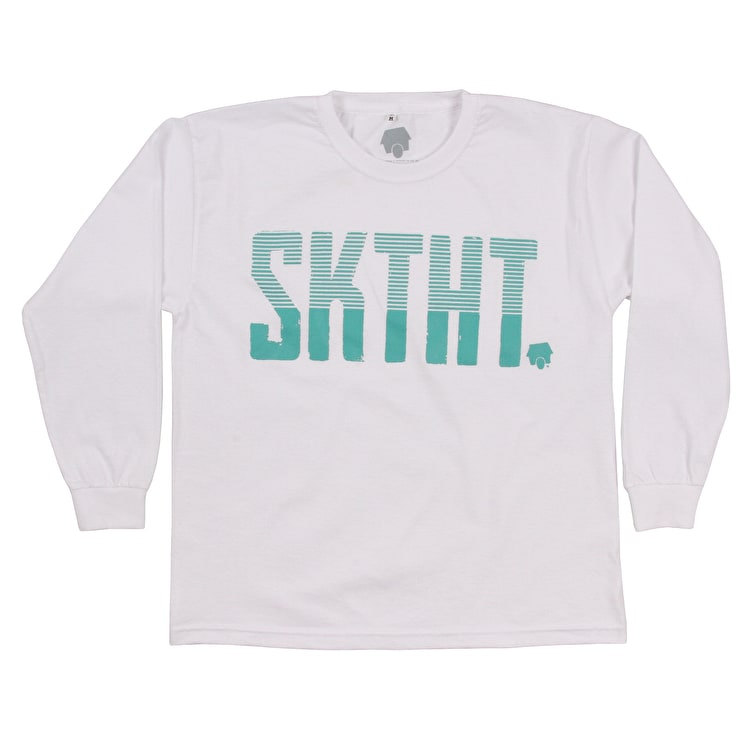 SkateHut SKTHT Stripe Kids T Shirt - White