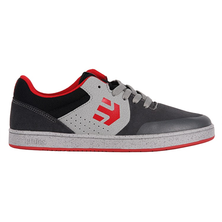 Etnies Marana Kids Skate Shoes - Dark Grey/Red