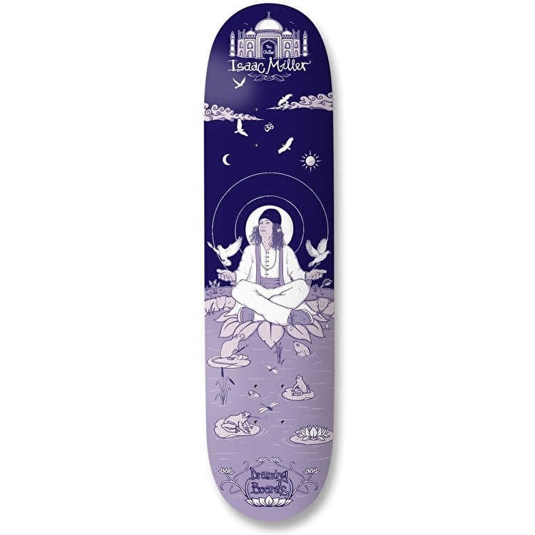 "Drawing Boards Isaac ""The Chiller"" Miller Skateboard Deck - Blue 8.1"""