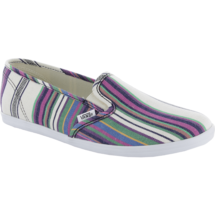 Vans Slip On Lo Pro Shoes - (Multi Stripe) True White