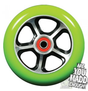 MGP DDAM CFA Scooter Wheel - Black / Green 110mm