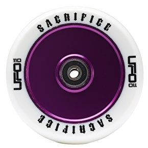 Sacrifice UFO 110mm Scooter Wheel w/Bearings - White/Purple