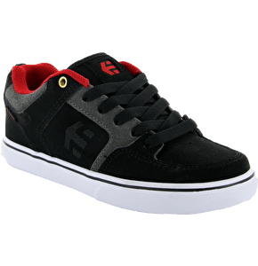 Etnies Sheckler 6 Kids Skate Shoes - Black/Grey/Red