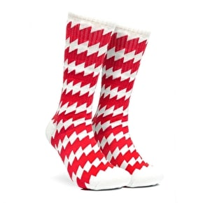 Chrystie CSC Socks - White/Red