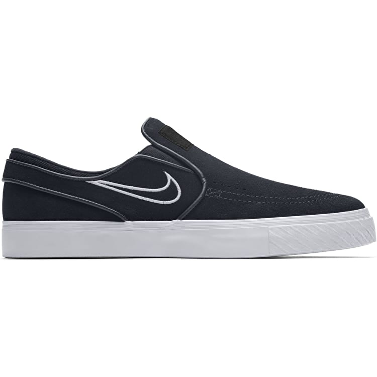 Nike SB Air Zoom Janoski Slip Skate Shoes - Black/Light Bone
