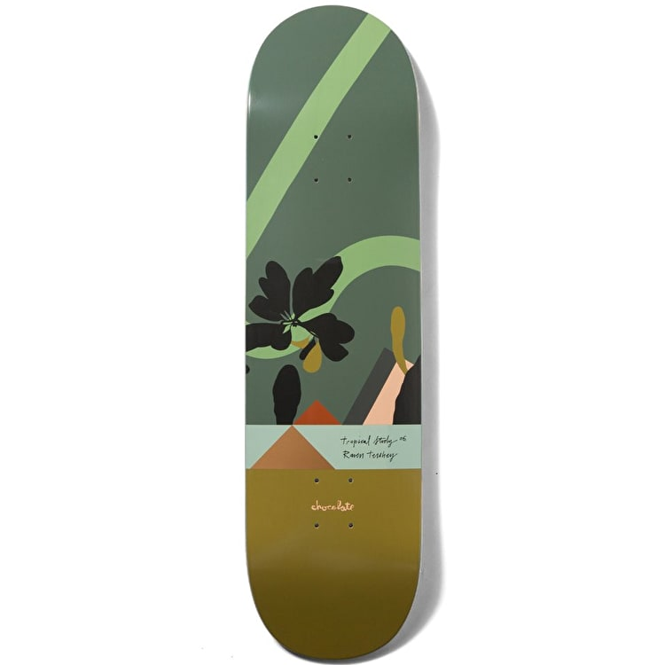 "Chocolate Hecox Tropical Studies Skateboard Deck 8.5"" - Tershy"