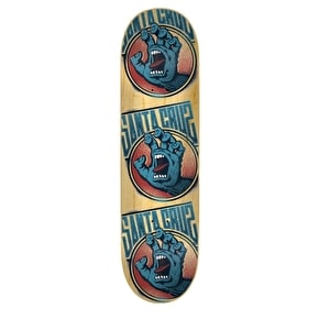 Santa Cruz Screaming Tag Skateboard Deck - Natural 8.25