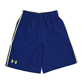 Under Armour Boys Edge Shorts - American Blue/Yellow Ray