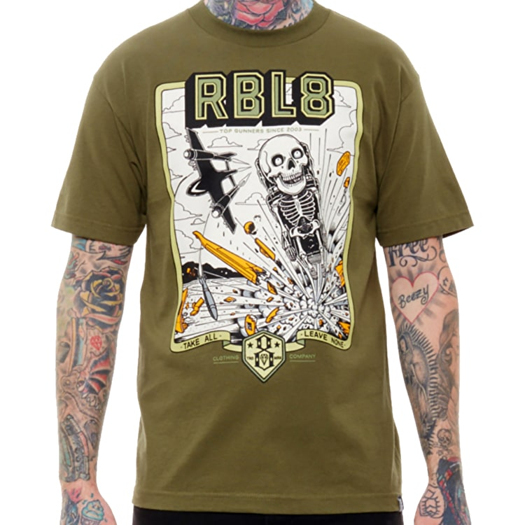 Rebel8 Top Gunner T-Shirt - Army