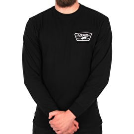 Vans Full Patch Back Long Sleeve T-Shirt - Black/White