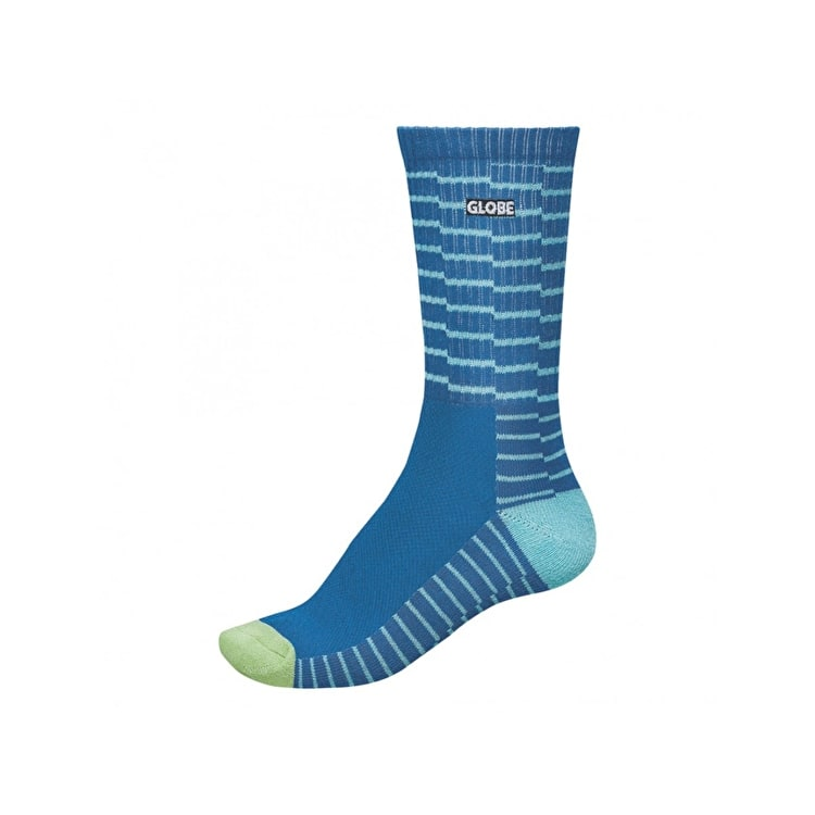 Globe Motion Crew Socks - Blue Steps