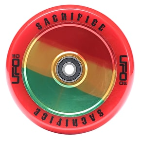 Sacrifice UFO 110mm Scooter Wheel w/Bearings - Red/Jamaica