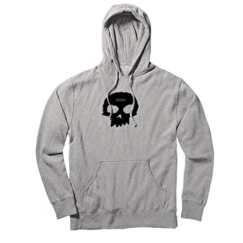 Zero Single Skull Pullover Hoodie - Ash Grey