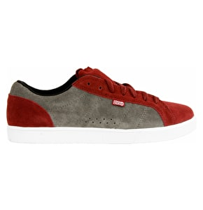 DVS Chico Low Skate Shoes - Port/Grey Suede