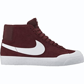 Nike SB Blazer Zoom Mid  XT Skate Shoes - Dark Team Red/White