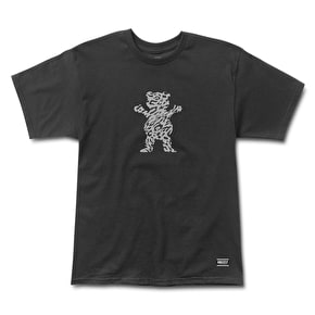 Grizzly Trippy Trail OG Bear T-Shirt - Black